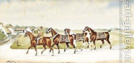 Returning to the stables by Henry William Standing - Reproduction Oil Painting