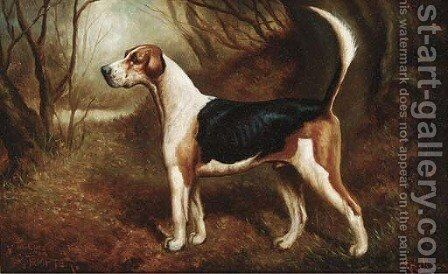 A favourite beagle by Herbert Jones - Reproduction Oil Painting