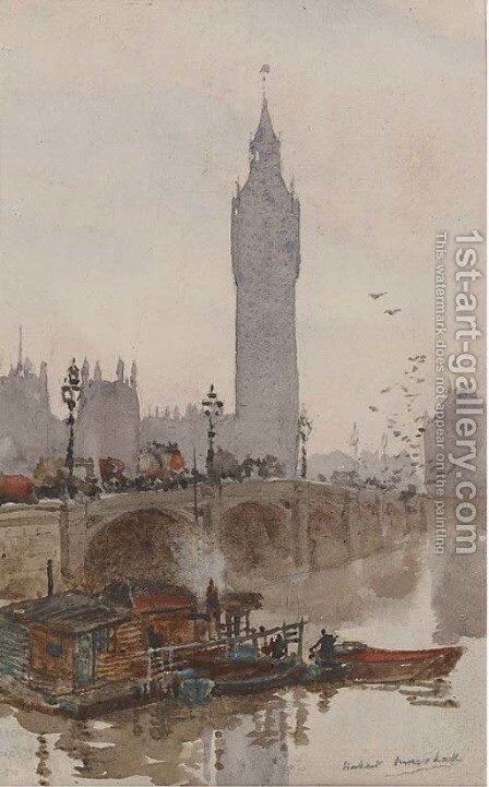 Westminster by Herbert Menzies Marshall - Reproduction Oil Painting