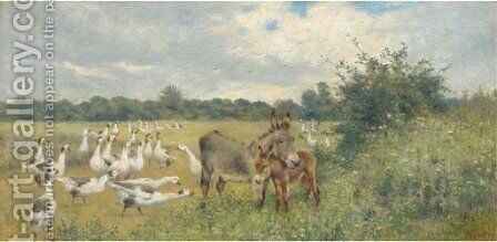 The unwelcome guest by Herbert William Weekes - Reproduction Oil Painting