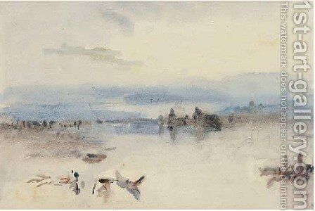 Morning on the Venetian Lagoon by Hercules Brabazon Brabazon - Reproduction Oil Painting
