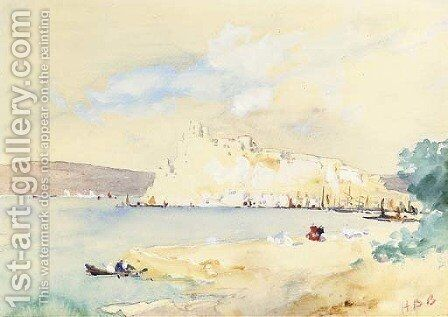 Near Naples by Hercules Brabazon Brabazon - Reproduction Oil Painting