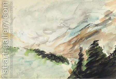 The Alps at Wengen by Hercules Brabazon Brabazon - Reproduction Oil Painting