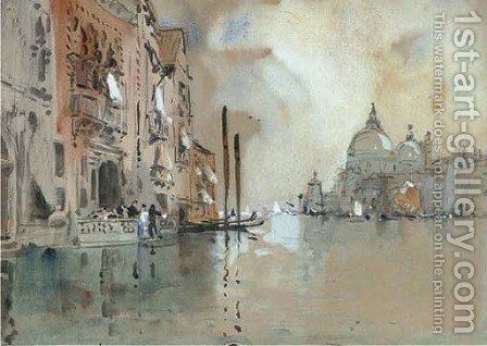 The Grand Canal, Venice 3 by Hercules Brabazon Brabazon - Reproduction Oil Painting