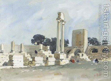 The Roman Theatre, Arles, Provence by Hercules Brabazon Brabazon - Reproduction Oil Painting
