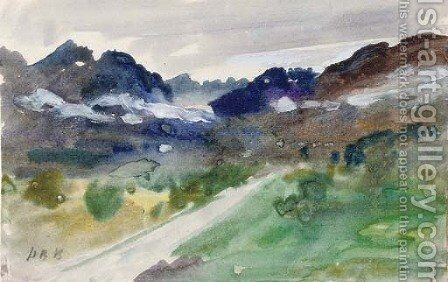 Val d'Aosta, Italy by Hercules Brabazon Brabazon - Reproduction Oil Painting