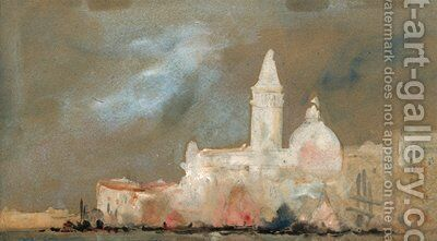 Venice from the lagoon by Hercules Brabazon Brabazon - Reproduction Oil Painting