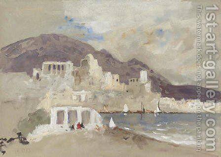 View of Anacapri by Hercules Brabazon Brabazon - Reproduction Oil Painting