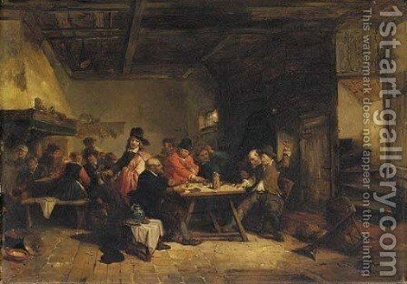 The gamblers by Herman Frederick Carel Ten Kate - Reproduction Oil Painting