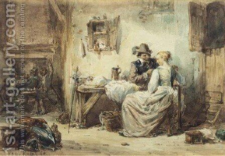 Intimate at the inn by Herman Frederik Carel ten Kate - Reproduction Oil Painting