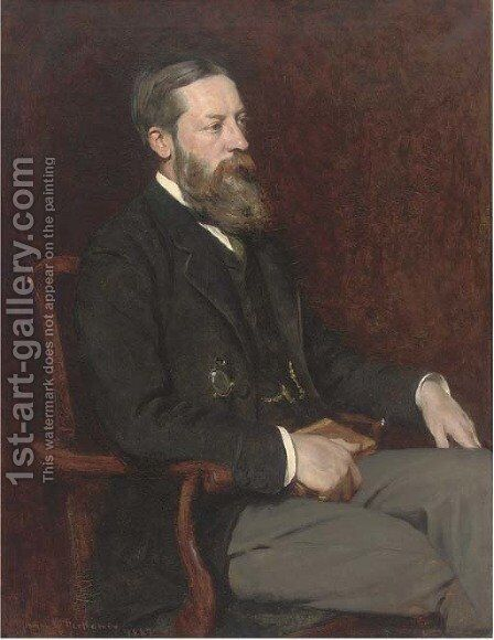Portrait of John Robert Nolland by Herman Gustave Herkomer - Reproduction Oil Painting
