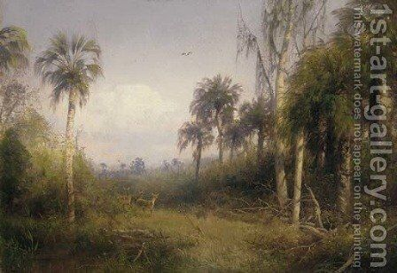 Florida Landscape by Herman Herzog - Reproduction Oil Painting