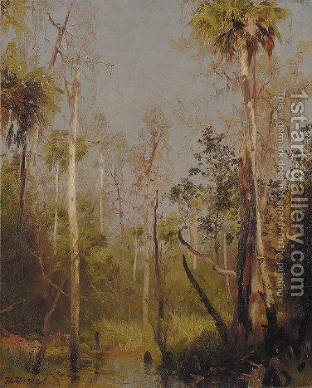 Florida Landscape 2 by Herman Herzog - Reproduction Oil Painting