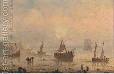Unloading the catch by Herminie Gudin - Reproduction Oil Painting