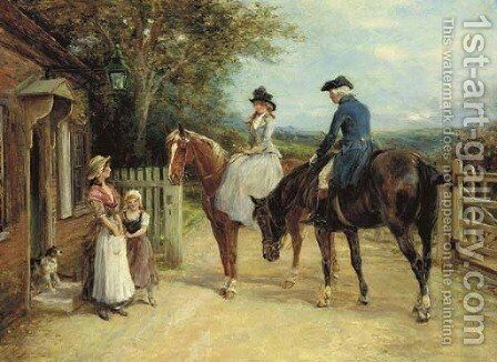 A Stop Before the Ride by Heywood Hardy - Reproduction Oil Painting