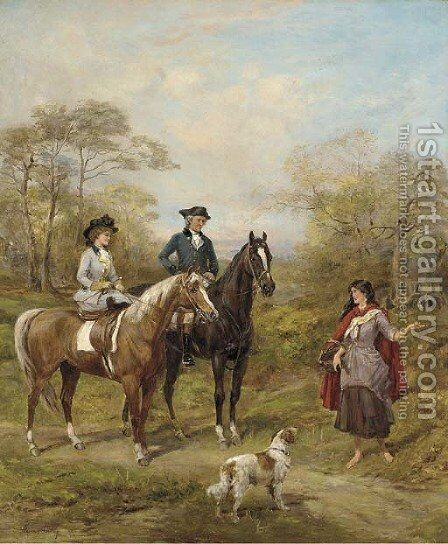 Asking the way by Heywood Hardy - Reproduction Oil Painting