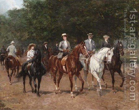 The Morning Ride 4 by Heywood Hardy - Reproduction Oil Painting