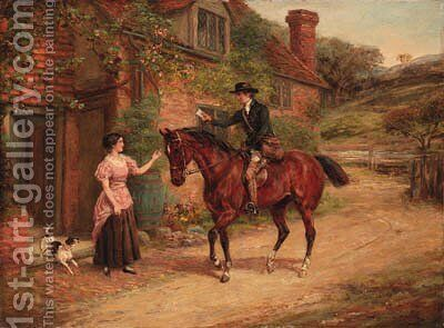 The Postman by Heywood Hardy - Reproduction Oil Painting