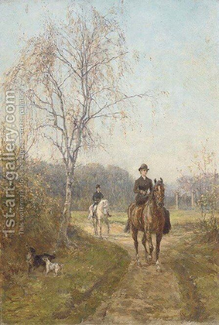 The morning ride 5 by Heywood Hardy - Reproduction Oil Painting