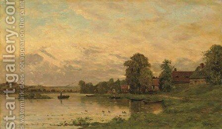 Portejoie sur Oise by Hippolyte Camille Delpy - Reproduction Oil Painting
