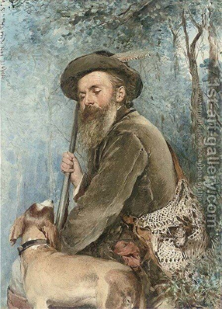 A rest from hunting by Horace van Truith - Reproduction Oil Painting