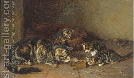 A captured audience by Horatio Henry Couldery - Reproduction Oil Painting