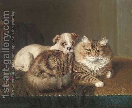 Faithful companions by Horatio Henry Couldery - Reproduction Oil Painting