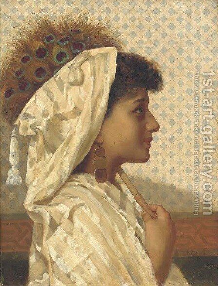 A Moorish girl by Sir Hubert von Herkomer - Reproduction Oil Painting