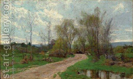 Road Through A Wooded Landscape by Hugh Bolton Jones - Reproduction Oil Painting