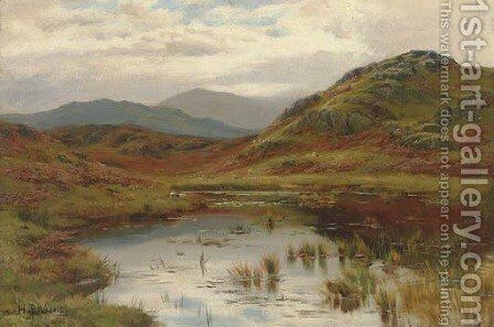 Sheep in the Valley by Hugh Bolton Jones - Reproduction Oil Painting