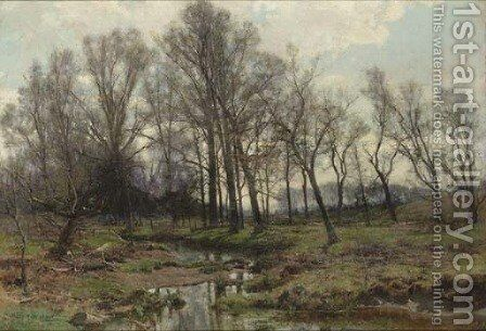 The Meadow Brook by Hugh Bolton Jones - Reproduction Oil Painting