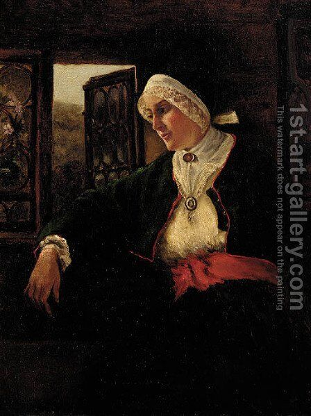 Waiting by Hugo Federick Salmson - Reproduction Oil Painting