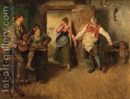 A merry dance by Hugo Kauffmann - Reproduction Oil Painting