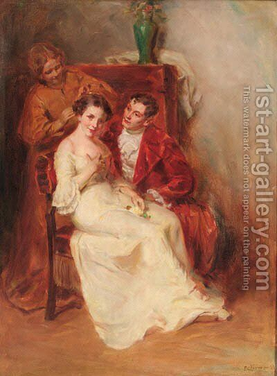 Before the wedding by Hungarian School - Reproduction Oil Painting