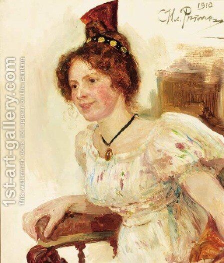 Portrait of Alice Trolle by Ilya Efimovich Efimovich Repin - Reproduction Oil Painting