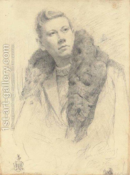 Portrait of Fedor Chaliapin by Ilya Efimovich Efimovich Repin - Reproduction Oil Painting