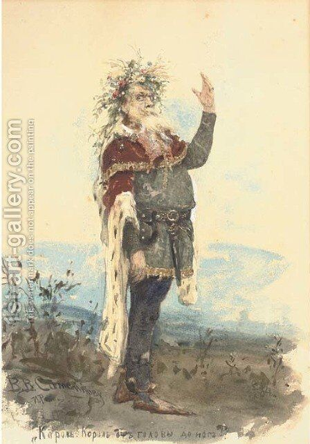 Portrait of Vasili Samoilov as King Lear by Ilya Efimovich Efimovich Repin - Reproduction Oil Painting