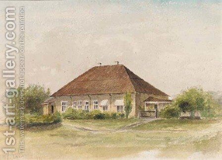 Summer - the House in the Country by Ilya Efimovich Efimovich Repin - Reproduction Oil Painting