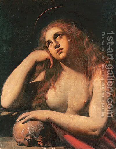 The Penitent Magdalene by Ippolito Borghese - Reproduction Oil Painting