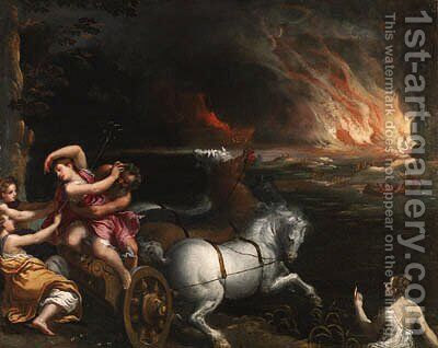 The Rape of Persephone by Ippolito Scarsella (see Scarsellino) - Reproduction Oil Painting