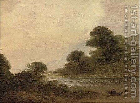 River landscapes, sketches by Irish School - Reproduction Oil Painting