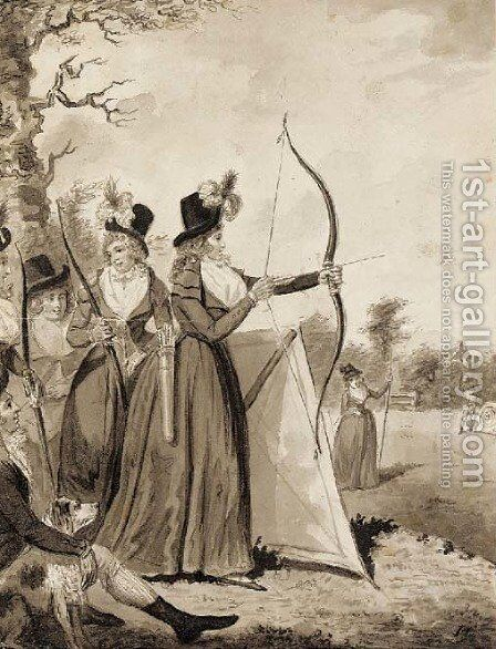 Archery by Isaac Cruikshank - Reproduction Oil Painting
