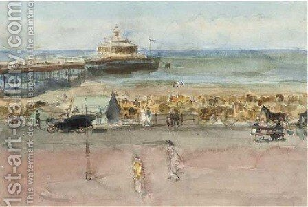 A sunny day on Scheveningen boulevard by Isaac Israels - Reproduction Oil Painting