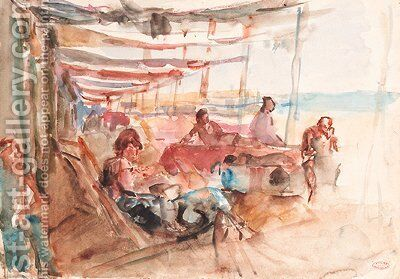 A sunny slumber in Viareggio by Isaac Israels - Reproduction Oil Painting