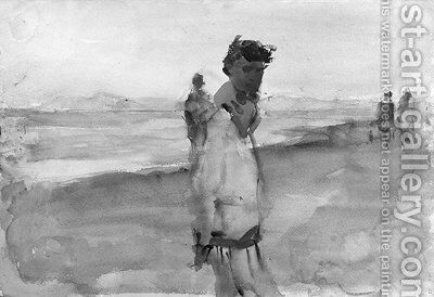 Elegant ladies on the beach of Viareggio by Isaac Israels - Reproduction Oil Painting