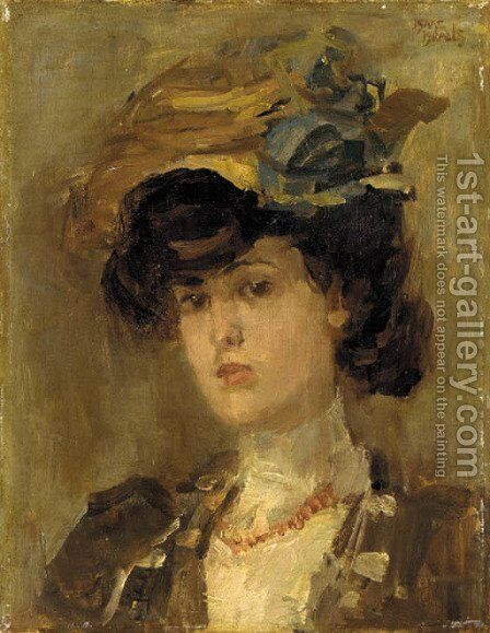 La belle Parisienne by Isaac Israels - Reproduction Oil Painting