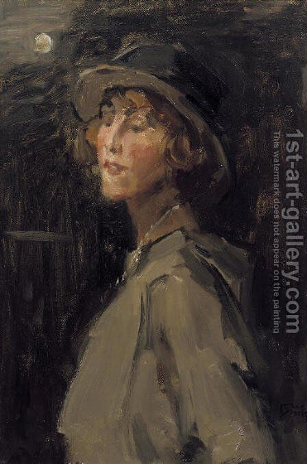 Lady in grey by Isaac Israels - Reproduction Oil Painting