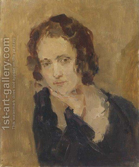 Portrait of Laura Asselin by Isaac Israels - Reproduction Oil Painting