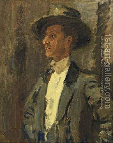 Portrait of Vincente Escudero by Isaac Israels - Reproduction Oil Painting