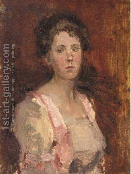 Pretty in pink by Isaac Israels - Reproduction Oil Painting